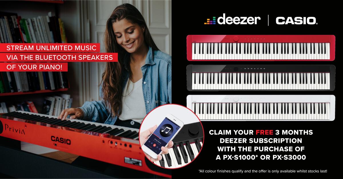 Casio Deezer Promotion Banner