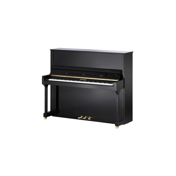 Hoffmann T128 Upright Piano Polished Ebony