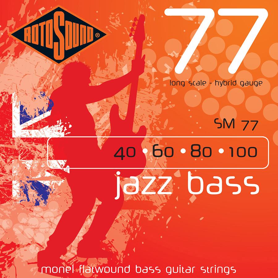 Rotosound SM77 Jazz Bass Set  Flatwound Bass Strings