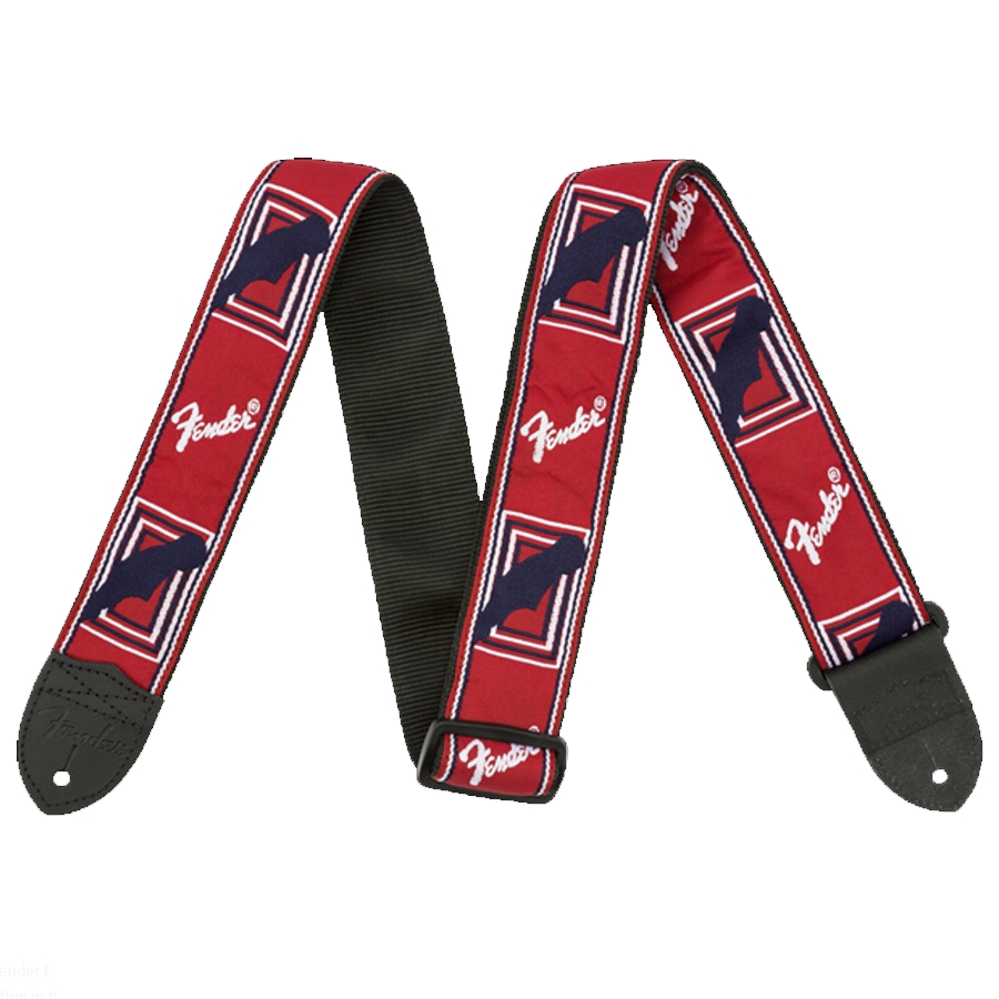 Fender Mono Strap Red/White/Blue Guitar Strap