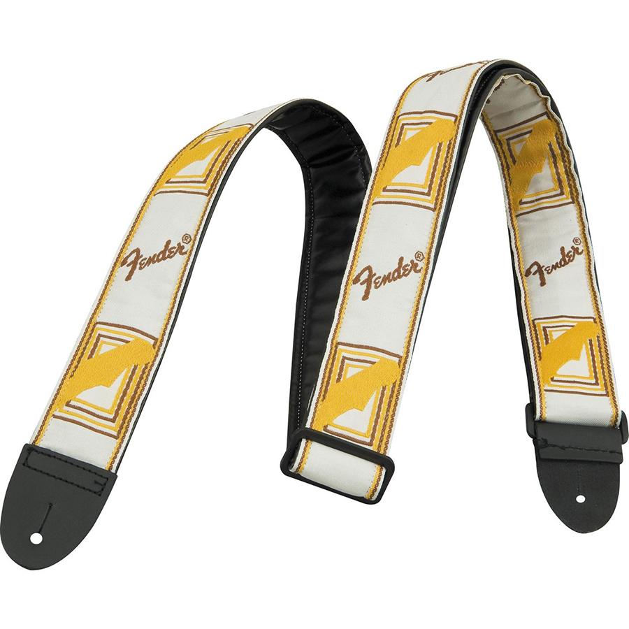 Fender Mono White, Brown, Yellow Guitar Strap