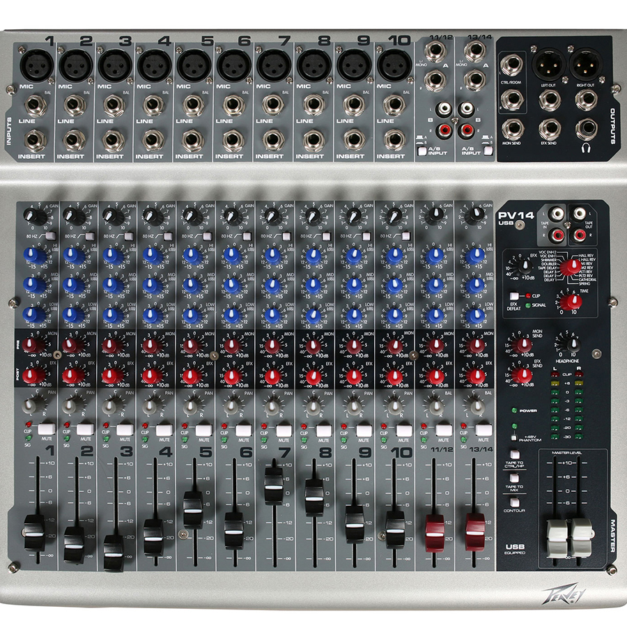 Peavey PV14 with FX USB Mixer