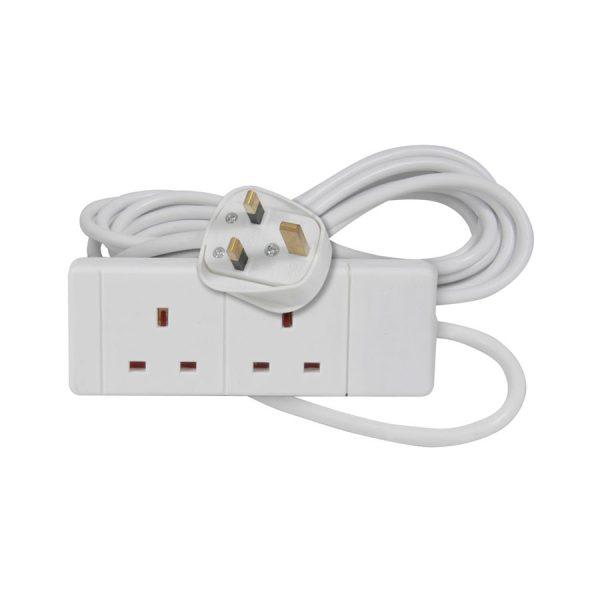 AVSL  3m, White 2-Way Extension Lead