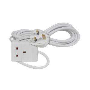 AVSL  3m, White 1-Way Extension Lead