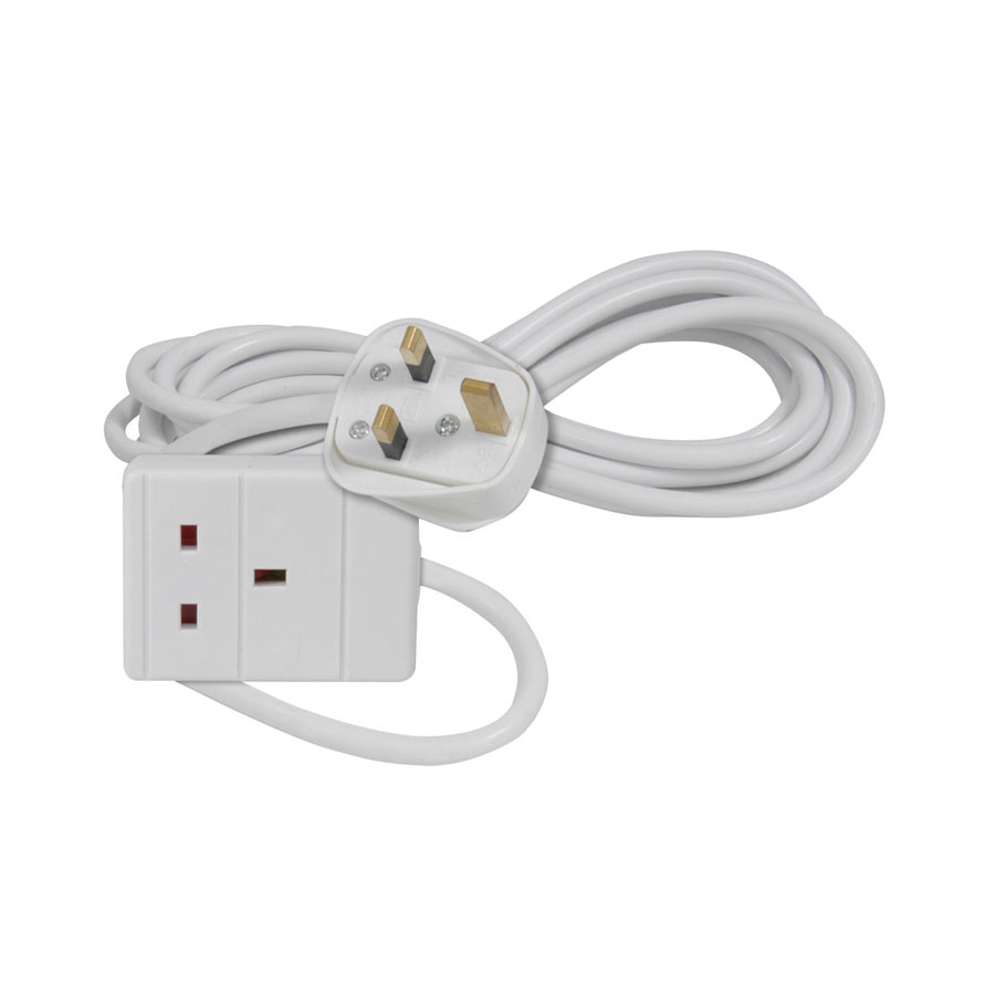 AVSL 3m, White 1-Way Extension Lead