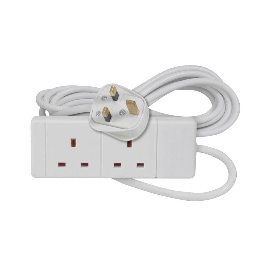 AVSL 5m, White 2-Way Extension Lead