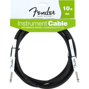 Fender 10ft Black Straight Instrument Cable