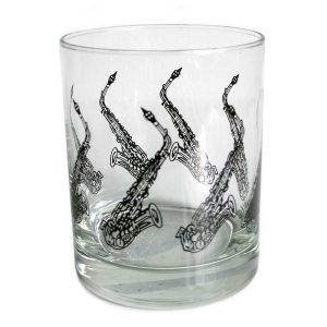 Saxophone Design  Glass Tumbler