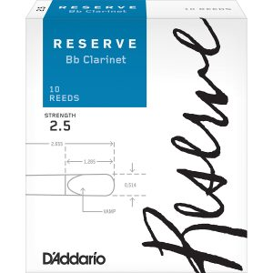 D'Addario Reserve 2.5 (Box of 10) Clarinet Reeds
