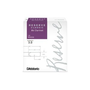 Reserve by D'Addario 3.5 (Box of 10) Clarinet Reeds