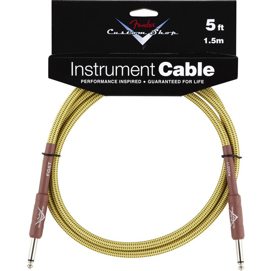 Fender Custom Shop 5ft, Tweed Instrument Cable