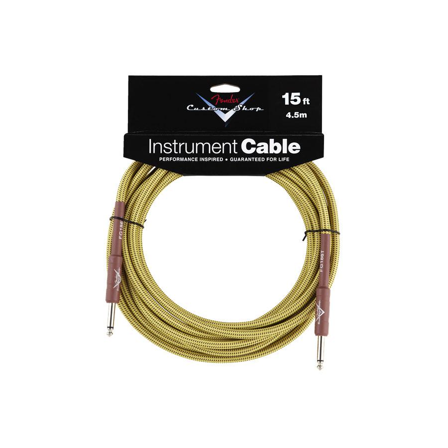 Fender Custom Shop 15ft Tweed Instrument Cable