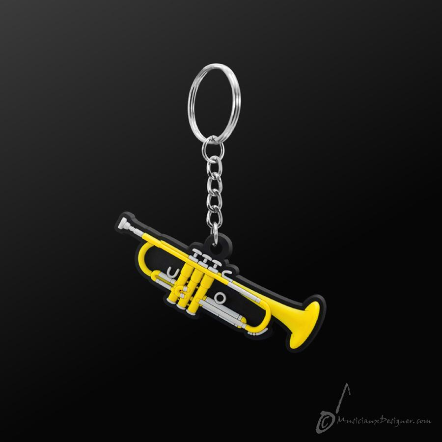 Musician Designer Trumpet Keyring