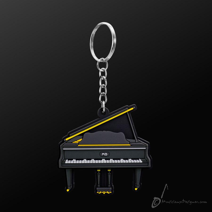 Musician Designer Grand Piano Black Keyring