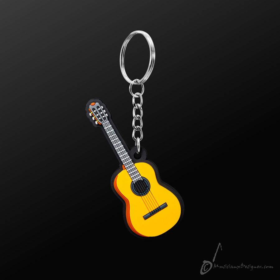 Musician Designer Classical Guitar Keyring