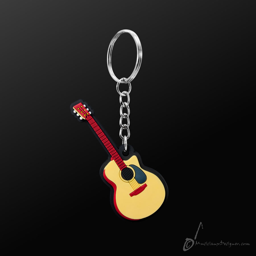 Musician Designer Acoustic Guitar Keyring