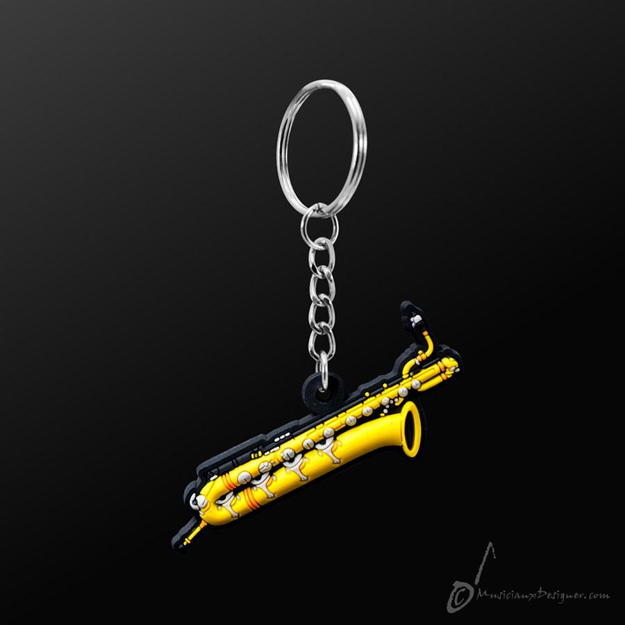 Musician Designer Baritone Saxophone Keyring