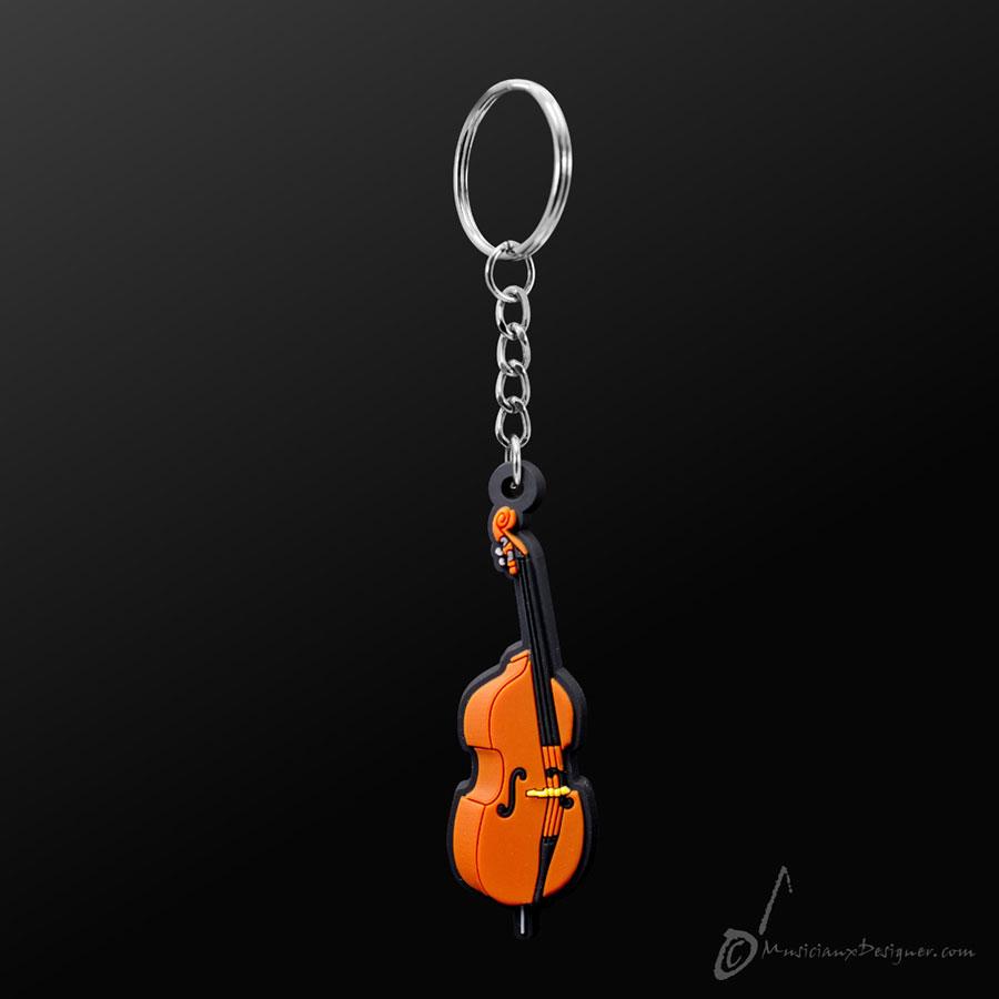 Musician Designer Double Bass Keyring