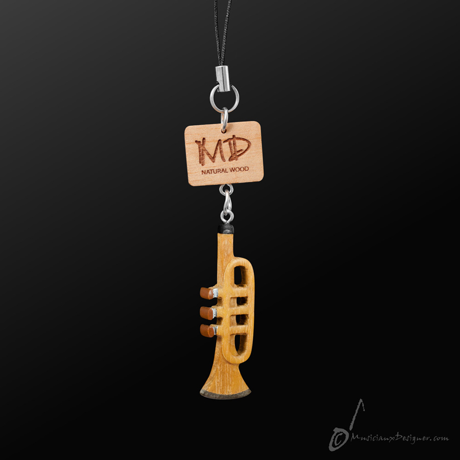 Musician Designer Wooden Trumpet  3D Strap