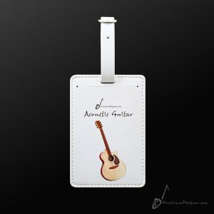 Musician Designer Guitar  Luggage  Tag