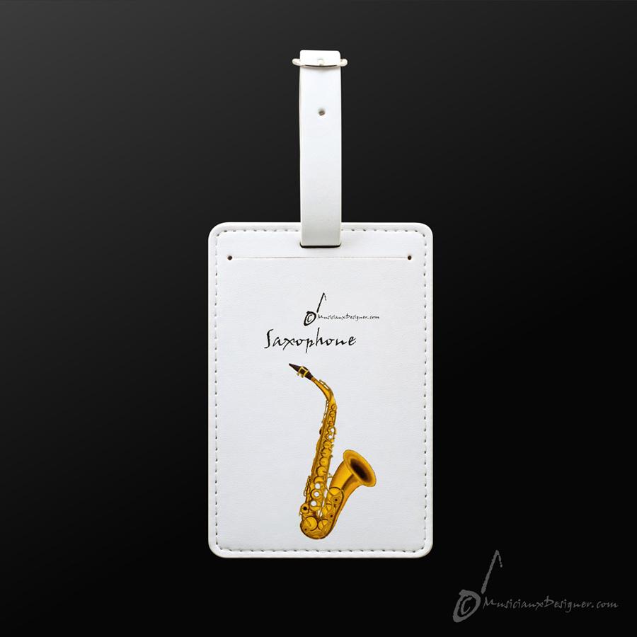 Musician Designer Saxophone  Luggage Tag