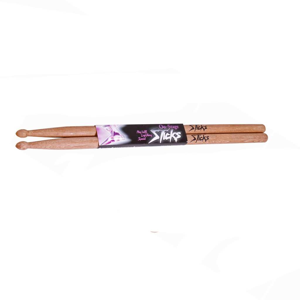 On Stage Maple 5B Wood Tip Drum Sticks