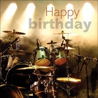 Drums on Stage Birthday Card