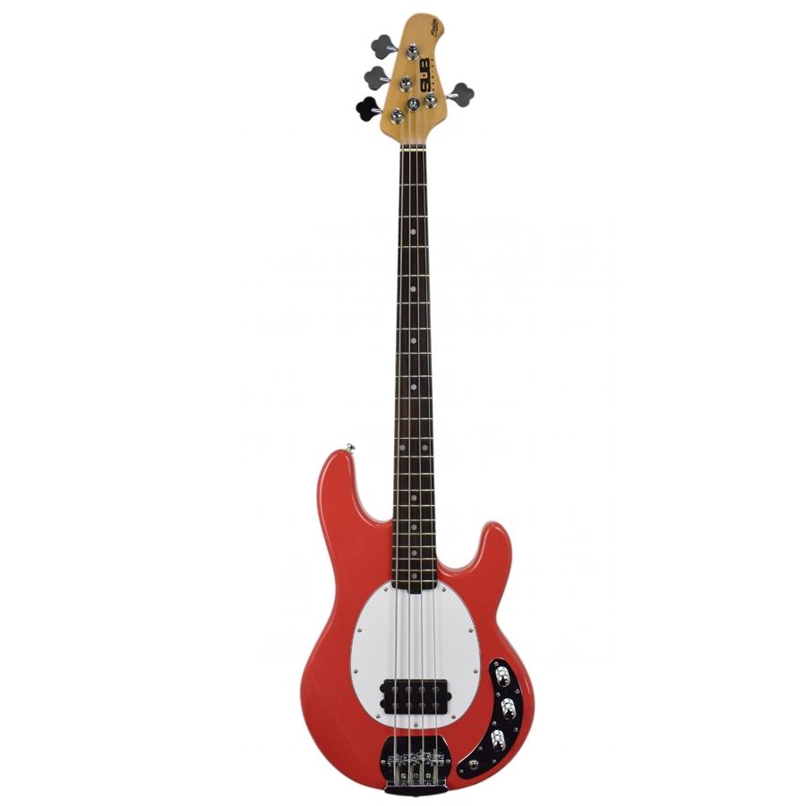 Musicman Sterling Stingray SUB 2BEQ Fiesta Red Bass Guitar
