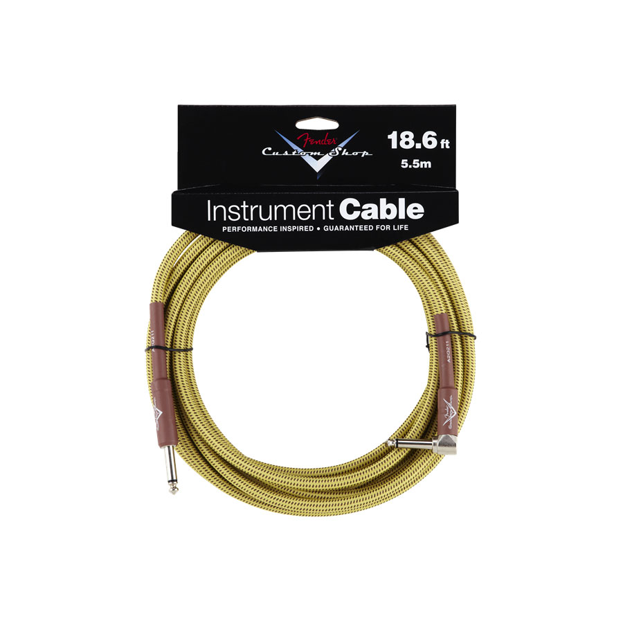 Fender Custom Shop 18.6ft Angle Tweed Instrument Cable