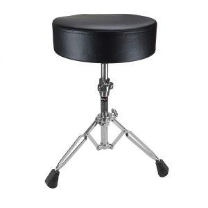 Shaw Standard Round Vinyl Black Drum Stool