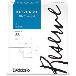 D'Addario Reserve 3 (Box of 10) Clarinet Reeds