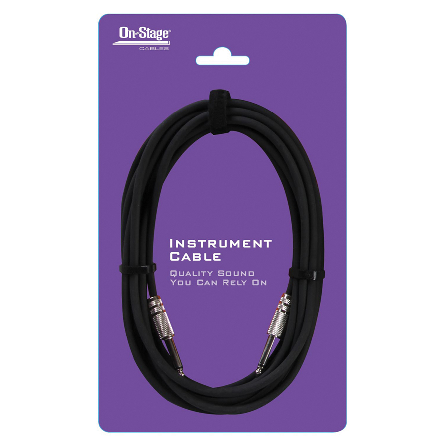 On Stage IC20R 20' Instrument Cable Right Angle Jack
