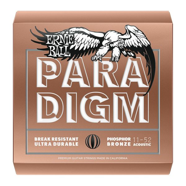 Ernie Ball Paradigm 11-52 Phosphor Bronze Guitar Strings