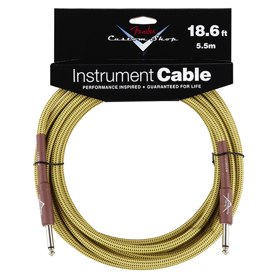 Fender Custom Shop 18.6ft, Tweed Instrument Cable