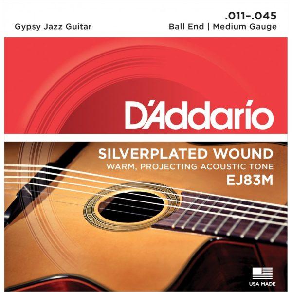 D'Addario EJ83M Silverplated Wound Medium, 11-45 Guitar Strings