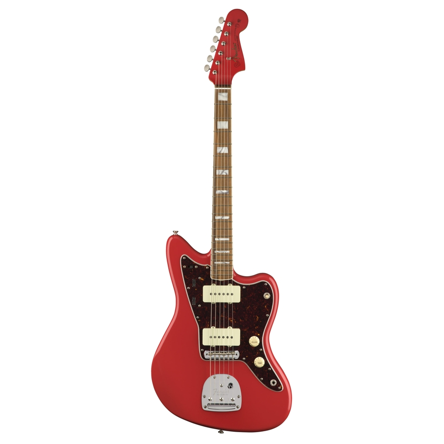 fender 60th anniversay jazzmaster fiesta red p electric guitar mickleburgh musical instruments. Black Bedroom Furniture Sets. Home Design Ideas