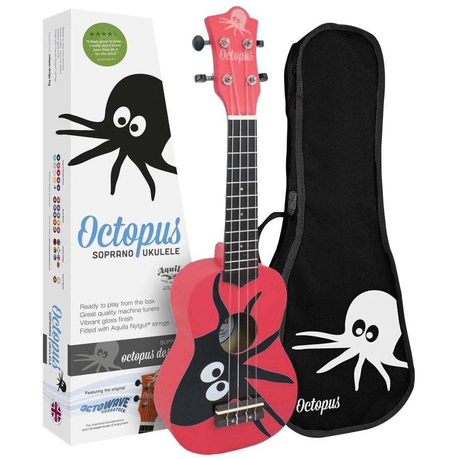Octopus UK200-KAR Red Soprano Ukulele