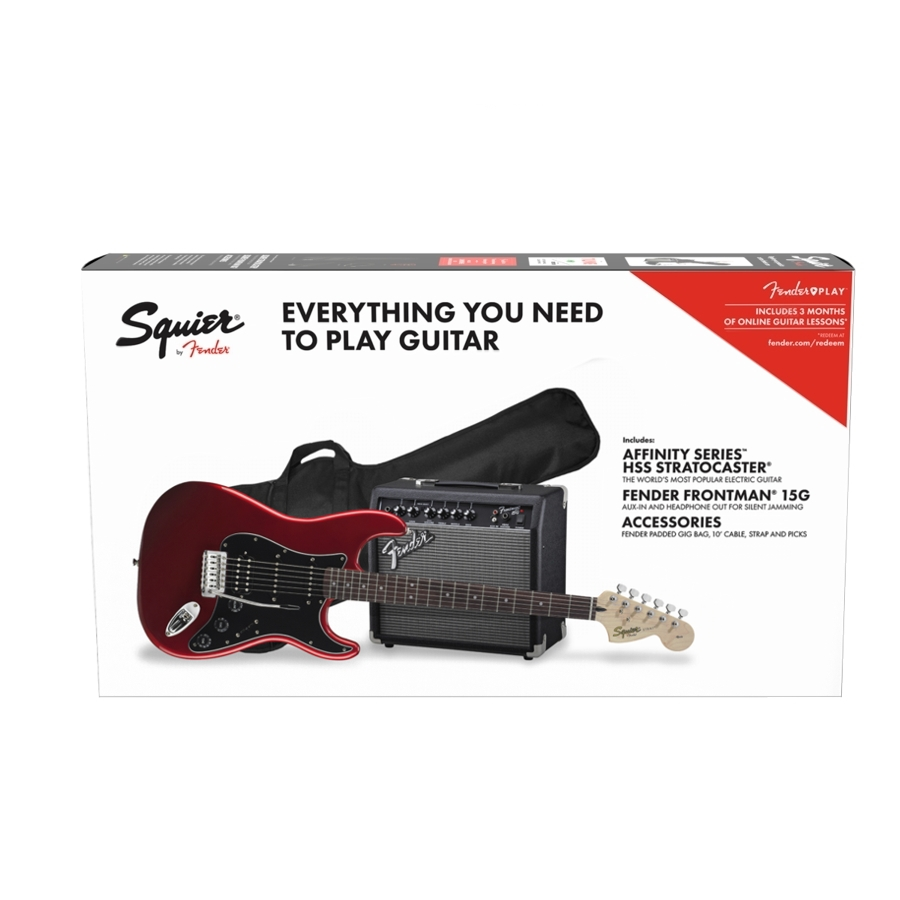 Squier Stratocaster Hss Candy Apple Red Electric Guitar Pack Fender Strat Wiring