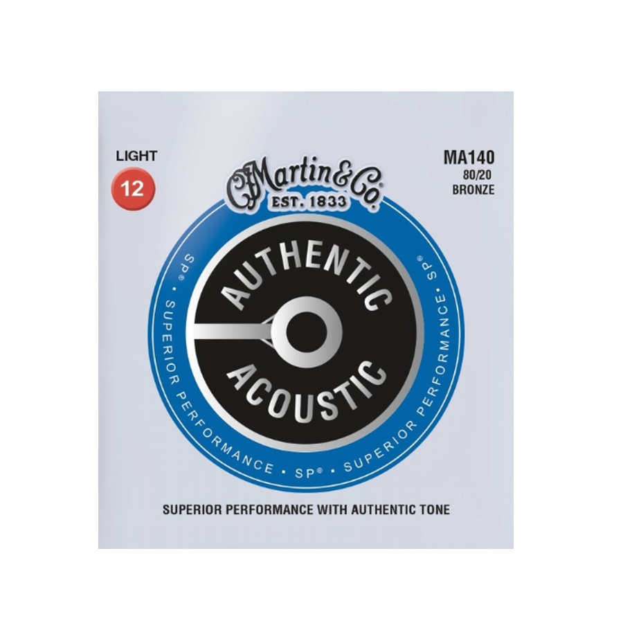 Martin 80/20 Bronze MA140 Light Acoustic Set