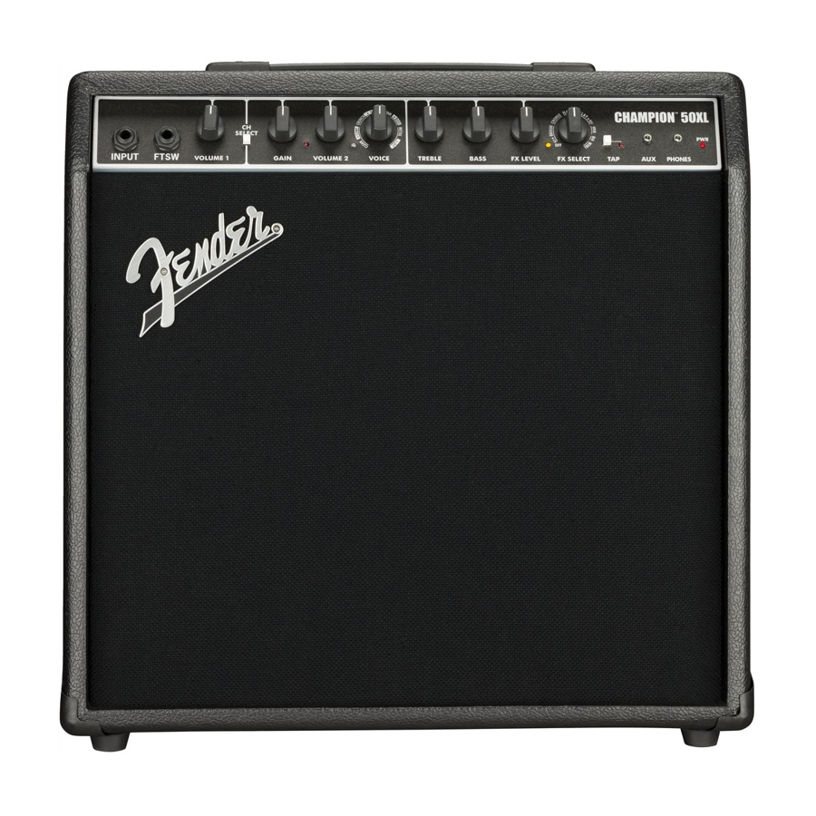 Fender Champion 50W Guitar Combo Amplifier