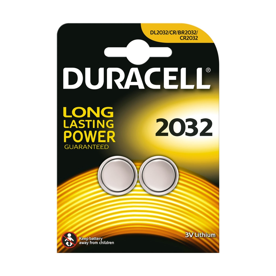 Duracell CR2032 3V - 2 Pack Lithium Battery