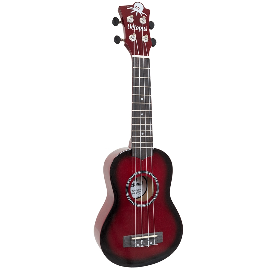 Octopus UK200D-RDB Red Burst Soprano Ukulele
