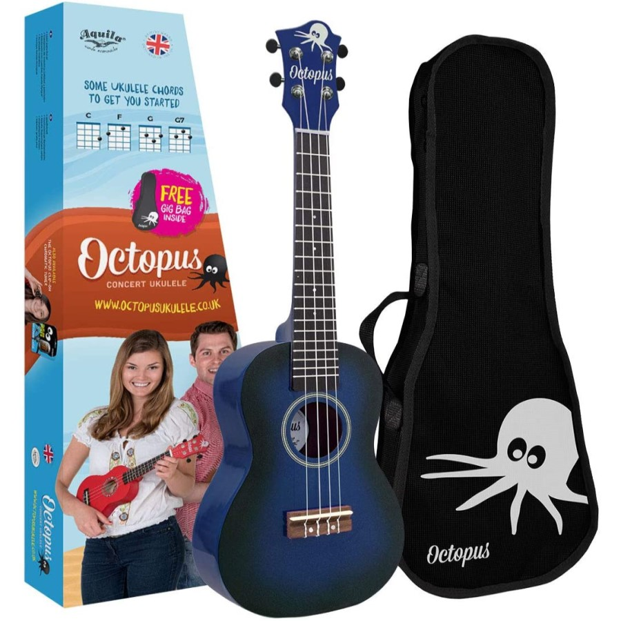 Octopus UK200D-DBB Dark Blue Burst Soprano Ukulele