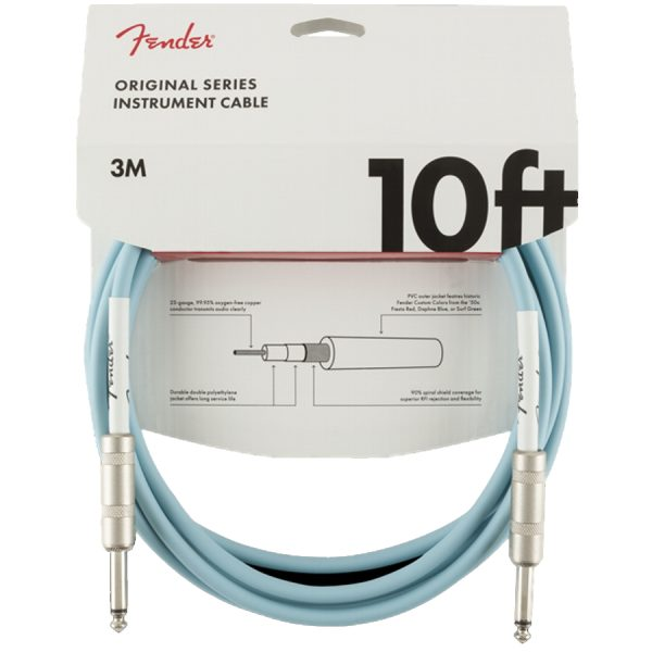 Fender Original 10ft, Daphne Blue straight/straight Instrument Cable