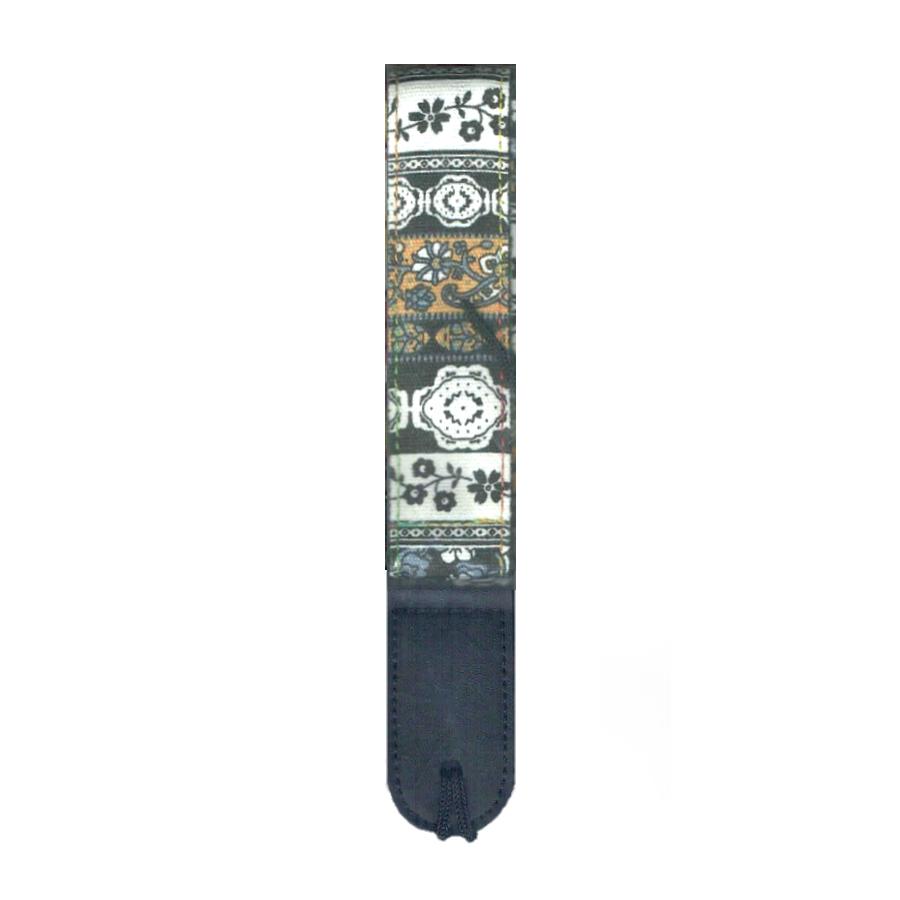 Mickleburgh WUS06 Tri-Tone Floral pattern Ukulele Strap