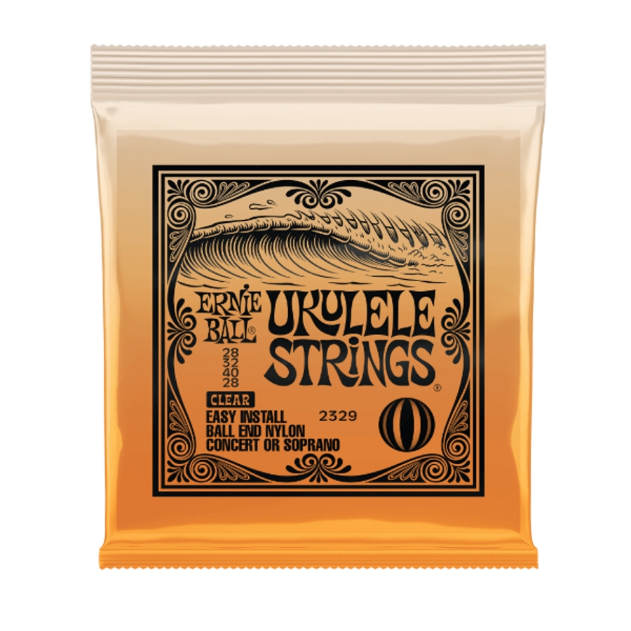 Ernie Ball 28-32-40-28 Ball-End Clear Nylon Ukulele Strings