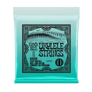 Ernie Ball 28-32-40-28 Ball-End Black Nylon Ukulele Strings