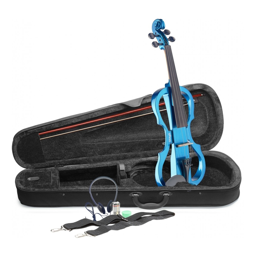 Stagg EVN X-4/4 BL Metallic Blue Violin