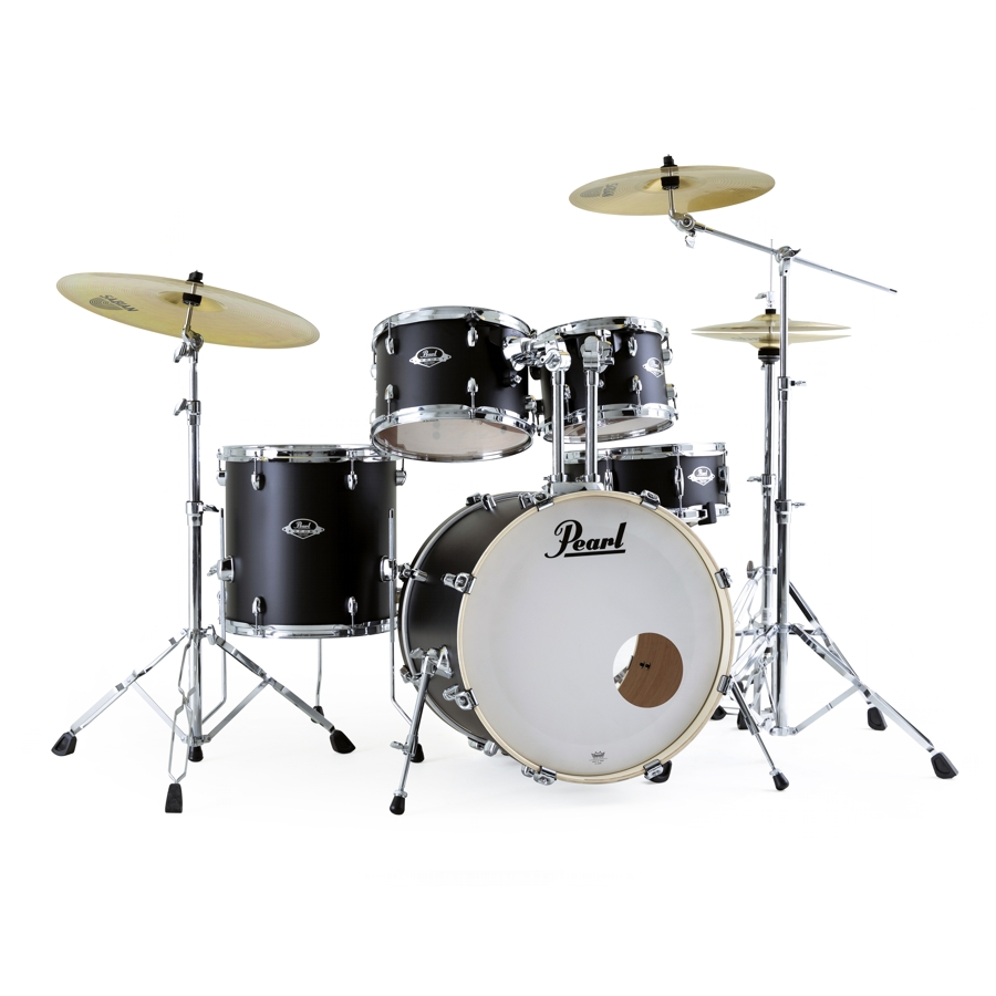 Pearl Export EXX Fusion - Satin Shadow Black Drum Kit