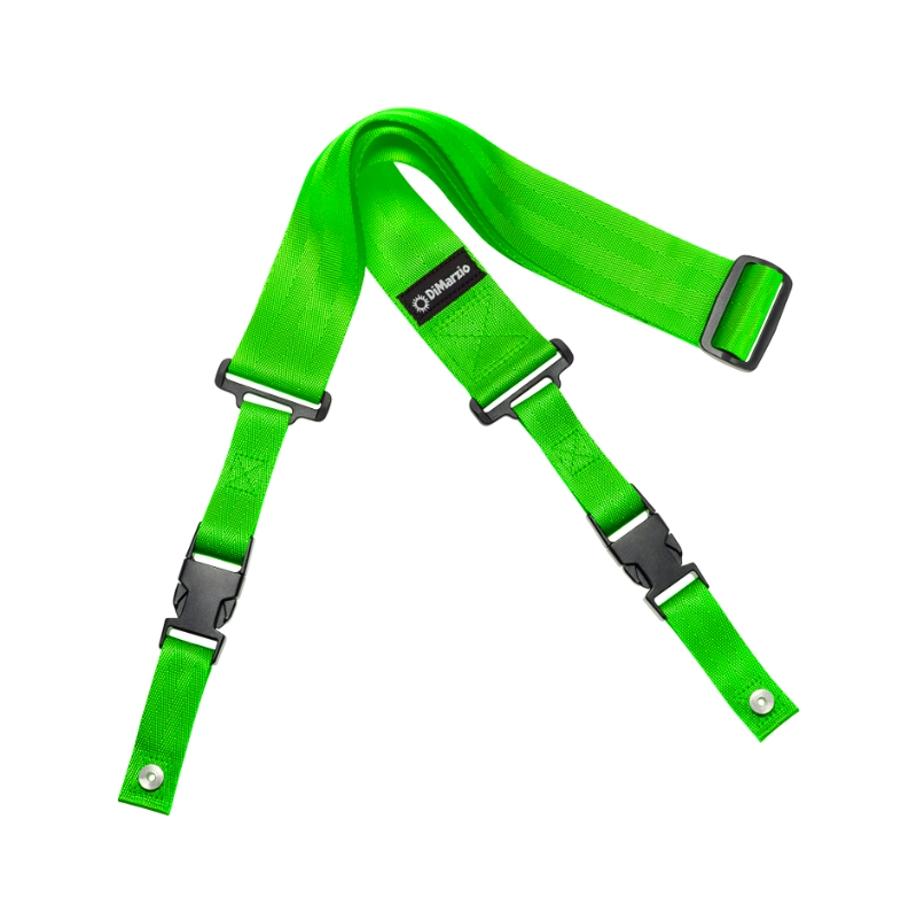 """DiMarzio Quick Release 2"""" Neon Green Guitar Strap"""